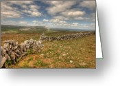 Kinvarra Greeting Cards - Beautiful Burren View Greeting Card by John Quinn