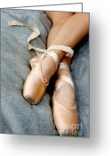 Dance Shoes Greeting Cards - Beauty is the Pointe Greeting Card by Kim Fearheiley