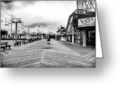 Jersey Shore Greeting Cards - Before the Crowds Greeting Card by John Rizzuto