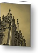 Angel Moroni Greeting Cards - Behold I speak unto you  Greeting Card by Joshua House