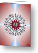Marquise Greeting Cards - Bejeweled 2 Greeting Card by Ellen Henneke