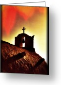 Faith Greeting Cards - Bell Tower Greeting Card by Joana Kruse