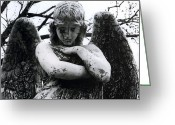 Missouri Photographer Greeting Cards - Bellefontaine Angel Greeting Card by Jane Linders