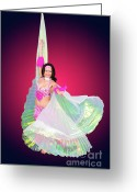 Belly Dance Greeting Cards - Belly dancer  Greeting Card by Ilan Rosen