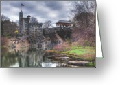 Spring Time Greeting Cards - Belvedere Castle  Greeting Card by Ariane Moshayedi