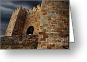 Middle Ages Greeting Cards - Belver Castle Greeting Card by Carlos Caetano