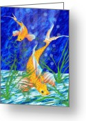 Sea Life Art Greeting Cards - Beneath The Waves Greeting Card by Jack Zulli