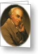 Personage Greeting Cards - Benjamin Rush Greeting Card by Science Source