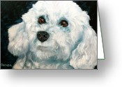 Bichon Greeting Cards - Bichon Frise Greeting Card by Susan A Becker