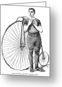 Penny Farthing Greeting Cards - Bicycling, 1890 Greeting Card by Granger