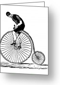 Penny Farthing Greeting Cards - Bicycling Greeting Card by Granger