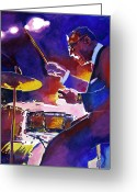 Big Band Greeting Cards - Big Band Ray Greeting Card by David Lloyd Glover