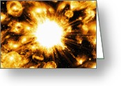 Cosmogony Greeting Cards - Big Bang, Conceptual Artwork Greeting Card by Mehau Kulyk