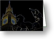 Iceni Greeting Cards - Big Ben and Boudica Greeting Card by David Pyatt