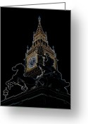 Iceni Greeting Cards - Big Ben and Boudica Statue Greeting Card by David Pyatt