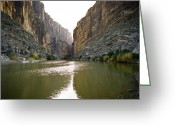 Landscape Posters Greeting Cards - Big Bend Rio Grand River Greeting Card by M K  Miller