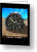 Clock Hands Greeting Cards - Big Time Greeting Card by Mike McGlothlen