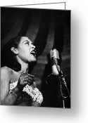 Entertainer Greeting Cards - Billie Holiday (1915-1959) Greeting Card by Granger