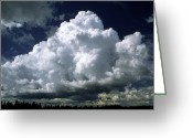 Cumulus Cloud Greeting Cards - Billowing Bank Of Cumulus Clouds Greeting Card by Pekka Parviainen