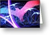 Lightpaint Greeting Cards - Birds Greeting Card by Andrew Nourse