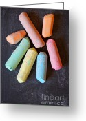 Communicate Greeting Cards - Blackboard chalk Greeting Card by Carlos Caetano
