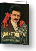 Tricks Greeting Cards - Blackstone the Worlds Master Magician Greeting Card by Unknown