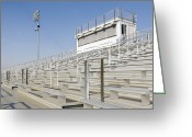 Soccer Sport Greeting Cards - Bleachers Greeting Card by Roberto Westbrook