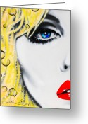 Famous Greeting Cards - Blondie Greeting Card by Alicia Hayes