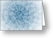 Translucent Greeting Cards - Blue Abstract Greeting Card by Frank Tschakert