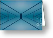 Screen Doors Greeting Cards - Blue reflection Greeting Card by Odon Czintos