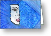 Emotion Pastels Greeting Cards - Blue Shade 99 Greeting Card by Randie Lee