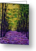 Expressive Greeting Cards - Bluebell Vista Greeting Card by Johnathan Harris