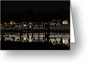 Boathouse Row Greeting Cards - Boathouse Row - Philadelphia Greeting Card by Brendan Reals