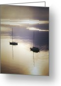 Quite Greeting Cards - Boats In Mist Greeting Card by Joana Kruse
