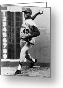 Throw Photo Greeting Cards - Bob Gibson (1935- ) Greeting Card by Granger