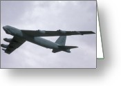 Airplane Greeting Cards - Boeing B-52G Stratofortress 59-2565 93rd Bomb Wing Castle AFB September 17 1992 Greeting Card by Brian Lockett