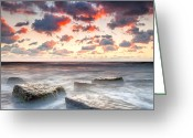 Evgeni Dinev Greeting Cards - Boiling Sea Greeting Card by Evgeni Dinev