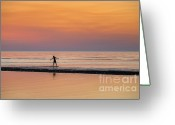 Boogie Board Greeting Cards - Boogie Boarding Greeting Card by John Greim