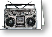 Hip-hop Greeting Cards - Boom Greeting Card by Russell Pierce