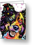 Animal Art Greeting Cards - Border Collie Greeting Card by Dean Russo