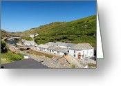 Kernow Greeting Cards - Boscastle Greeting Card by Carl Whitfield