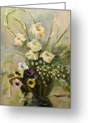Bouquet Greeting Cards - Bouquet Greeting Card by Tigran Ghulyan