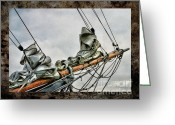 Karo Evans Greeting Cards - Bowsprit Of An Old Greement Greeting Card by Karo Evans