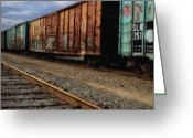 Boxcar Greeting Cards - Boxcars  Greeting Card by Bob Orsillo