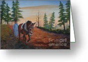 Plowing Greeting Cards - Breaking ground Greeting Card by Jerry Walker