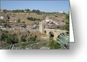 Toledo Greeting Cards - Bridge Across Toledo Greeting Card by John A Shiron