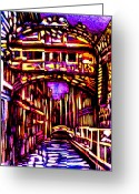 Rural Landscapes Mixed Media Greeting Cards - Bridge of Sighs Greeting Card by Giuliano Cavallo