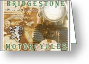 Antique Pyrography Greeting Cards - Bridgestone Wins Greeting Card by Eric Monse