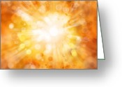 Shine Greeting Cards - Bright background Greeting Card by Les Cunliffe
