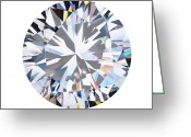 Facet Jewelry Greeting Cards - Brilliant Diamond Greeting Card by Setsiri Silapasuwanchai